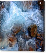 Crashing Falls On Rocks Below Acrylic Print