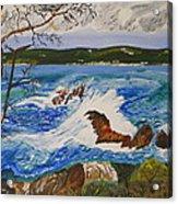 Crashing Wave Acrylic Print by Eric Johansen
