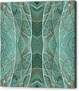 Crashing Waves Of Green 1 - Panorama - Abstract - Fractal Art Acrylic Print