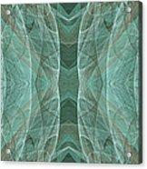 Crashing Waves Of Green 2 - Panorama - Abstract - Fractal Art Acrylic Print