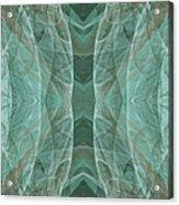 Crashing Waves Of Green 4 - Square - Abstract - Fractal Art Acrylic Print