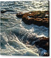 Crashing Waves Acrylic Print by Olivier Le Queinec