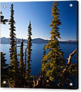 Crater Lake At Sunrise Acrylic Print