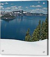 Crater Lake Panorama Acrylic Print