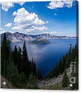 Crater Lake Pnorama - 2 Acrylic Print