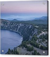 Crater Lake Sunset Acrylic Print