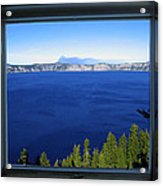 Crater Lake Through Our Window Acrylic Print