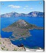 Crater Lake Wizard Island Acrylic Print