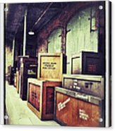 Crates And Crates Acrylic Print
