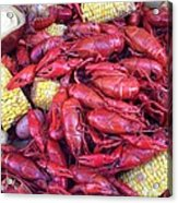 Crawfish Time In Louisiana Acrylic Print by Katie Spicuzza