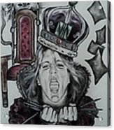 Crazy Carla Queen Of Charcoal Land Acrylic Print