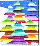 Crazy Christmas Trees Acrylic Print