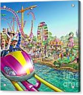 Crazy Coaster Acrylic Print by Adrian Chesterman