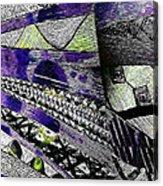 Crazy Cones Purple Greenl2 Acrylic Print