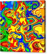 Crazy Day Abstract In Primary Colors  Acrylic Print