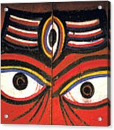 Crazy Eyes On Doors Acrylic Print