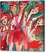 Crazy Joker Showgirls Acrylic Print