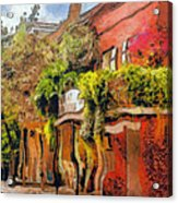Crazy Whimsy Wacky New Orleans Acrylic Print by Christine Till