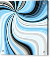 Creamy Blue Graphic Acrylic Print