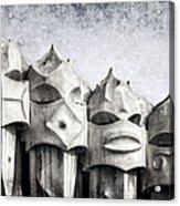Creatures Of La Pedrera Bw Acrylic Print