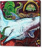Creatures Of The Deep Acrylic Print by Laura Barbosa