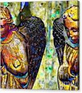 Creche Angels 5 Acrylic Print