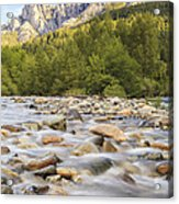 Creek And Castle Crags Acrylic Print