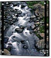 Creek Flow Polyptych Acrylic Print