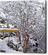 Creekside In The Snow Acrylic Print