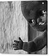 Creepy Baby Bw Acrylic Print