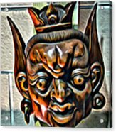 Creepy Mask Two Acrylic Print