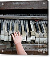 Creepy Piano Baby Acrylic Print