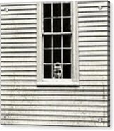 Creepy Victorian Girl Looking Out Window Acrylic Print