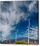 Creosote And Wind Turbines Acrylic Print