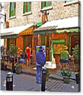 Crepes Et Fondues In Old Montreal-qc Acrylic Print