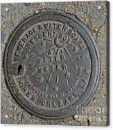 Crescent City Water Meter Acrylic Print