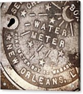 Crescent City Water Meter Acrylic Print