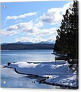 Crescent Lake  Acrylic Print