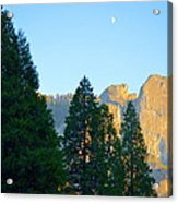 Crescent Moon Over Mountain Acrylic Print