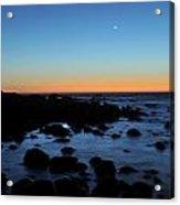 Crescent Moon Setting Off The San Mateo Coast Acrylic Print