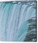 Crest Of Horseshoe Falls In Winter Acrylic Print