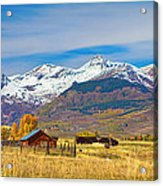 Crested Butte Autumn Landscape Panorama Acrylic Print