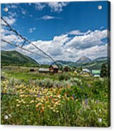 Crested Butte Farm House Acrylic Print