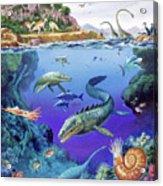 Cretaceous Period Fauna Acrylic Print