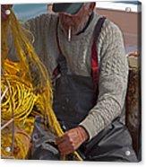 Crete Fisherman   #9348 Acrylic Print