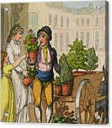 Cries Of London The Garden Pot Seller Acrylic Print
