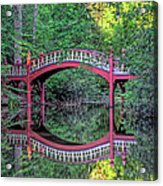 Crim Dell Bridge In Summer Acrylic Print