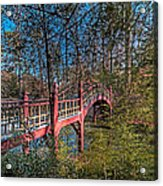 Crim Dell Bridge Spring Acrylic Print