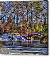 Crim Dell In Winter William And Mary Acrylic Print