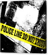 Crime Scene Acrylic Print by Olivier Le Queinec